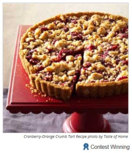 1st Prize-winning Cranberry-Orange Tart
